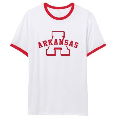 Arkansas Natural Threads Arch Ringer Tee