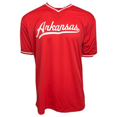 Arkansas Retro Razorbacks Baseball Jersey Tee