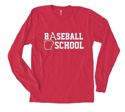 Natural Threads Baseball School Long Sleeve Tee