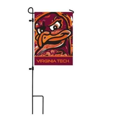 Virginia Tech Suede Garden Flag