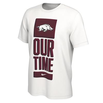 Arkansas Nike Our Time Bench Short Sleeve Tee