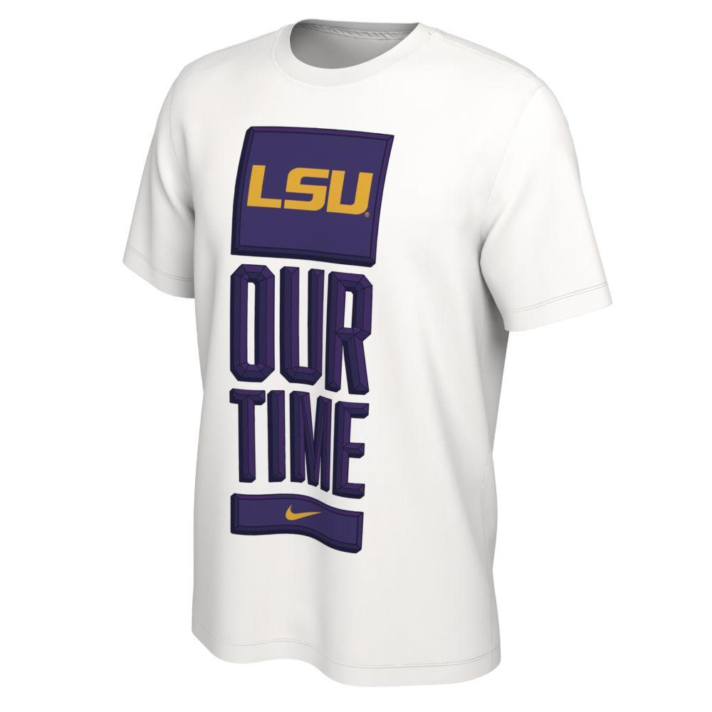 Lsu Nike Our Time Bench Short Sleeve Tee