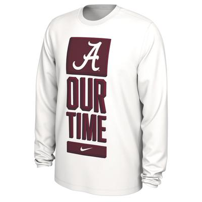 Alabama Nike Our Time Bench Long Sleeve Tee