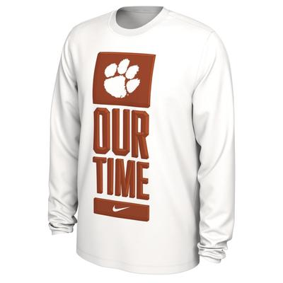 Clemson Nike Our Time Bench Long Sleeve Tee