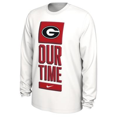 Georgia Nike Our Time Bench Long Sleeve Tee