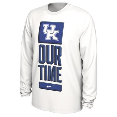Kentucky Nike Our Time Bench Long Sleeve Tee