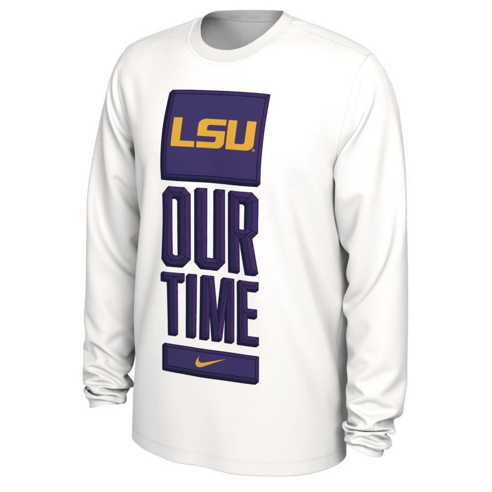 Lsu Nike Our Time Bench Long Sleeve Tee