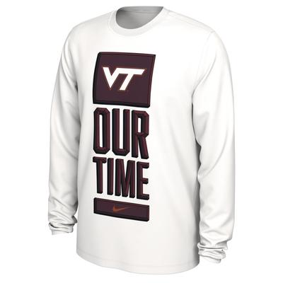 Virginia Tech Nike Our Time Bench Long Sleeve Tee