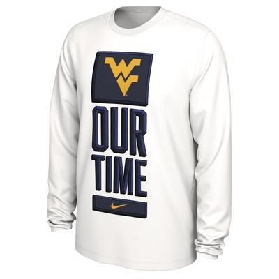 West Virginia Nike Our Time Bench Long Sleeve Tee
