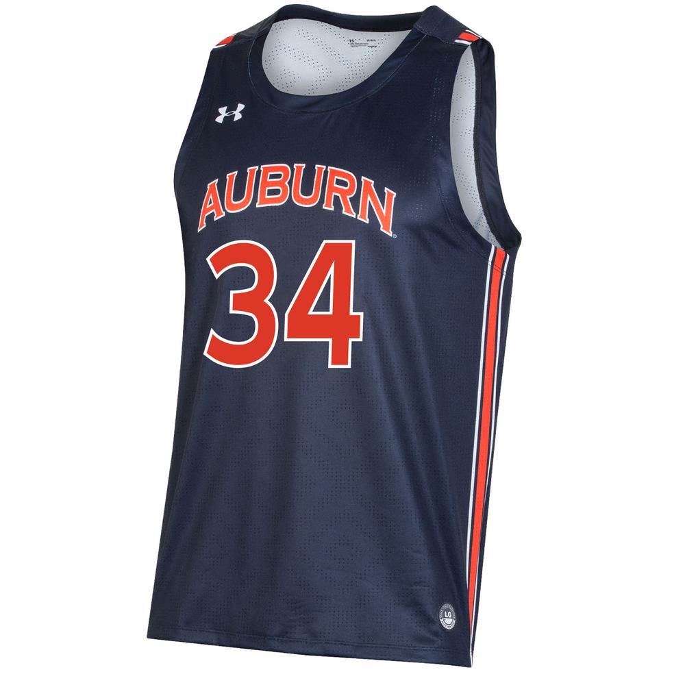 Auburn # 34 Under Armour Youth Replica Basketball Jersey