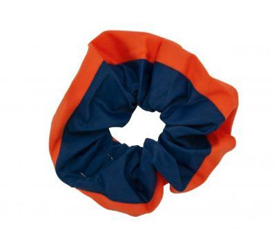 Pomchies Navy and Orange Hair Scrunchie