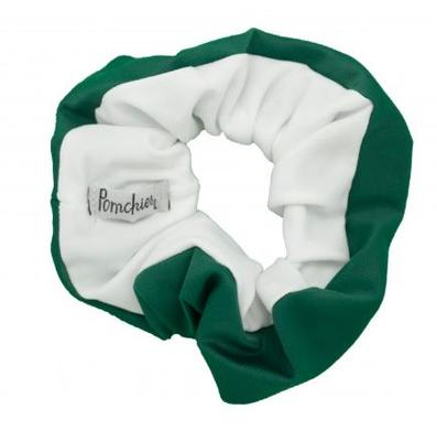 Pomchies Green And White Hair Scrunchie