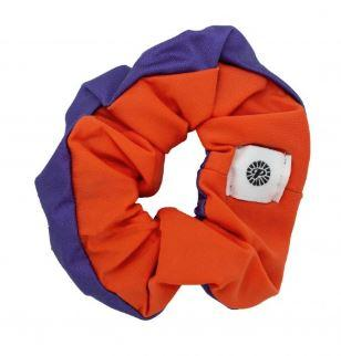 Pomchies Purple and Orange Hair Scrunchie