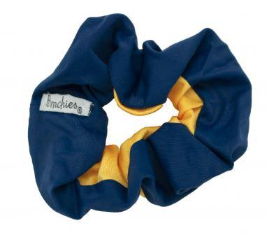 Pomchies Navy And Gold Hair Scrunchie