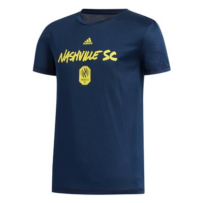 Nashville SC Adidas YOUTH Wordmark Goals Tee