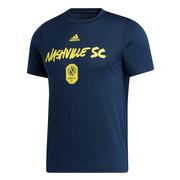 Nashville Sc Adidas Wordmark Goals Tee