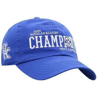 Kentucky 2020 SEC Basketball Champion Adjustable Hat