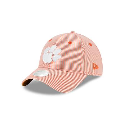 Clemson New Era Women's Preppy Stripe Adjustable Cap