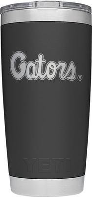 Florida Yeti 20oz Black Powder Coated Gators Script Rambler