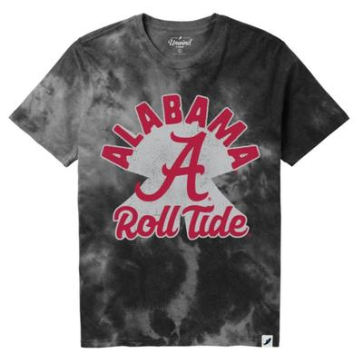 Alabama League Retro Tie Dye Crew Tee Shirt
