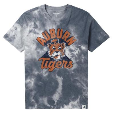 Auburn League Retro Tie Dye Crew Tee Shirt