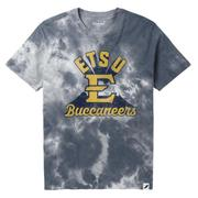 Etsu League Retro Tie Dye Crew Tee Shirt