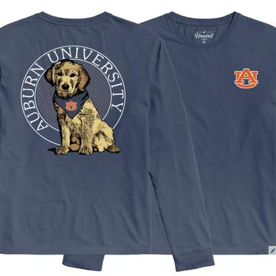 Auburn League Tumble Wash Rally Dog Long Sleeve Tee