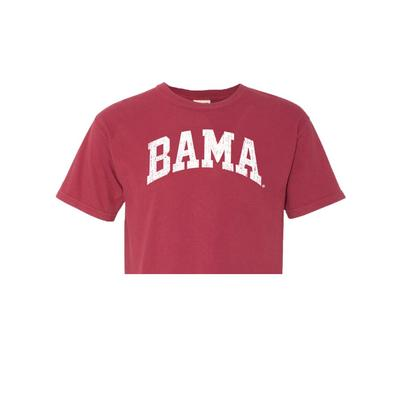 Alabama Distressed Comfort Colors Arch Crop Top