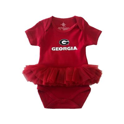 Georgia Wordmark Tutu Infant Onesie