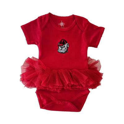 Georgia Retro Dawg Tutu Infant Onesie