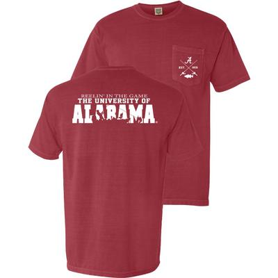 Alabama Reelin' In The Game Comfort Colors Pocket Tee