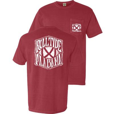 Alabama Flag Football Comfort Colors Pocket Tee