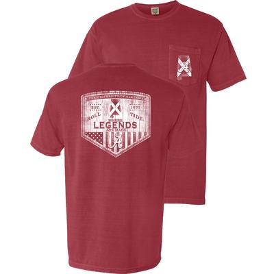 Alabama Wood Shield Comfort Colors Pocket Tee