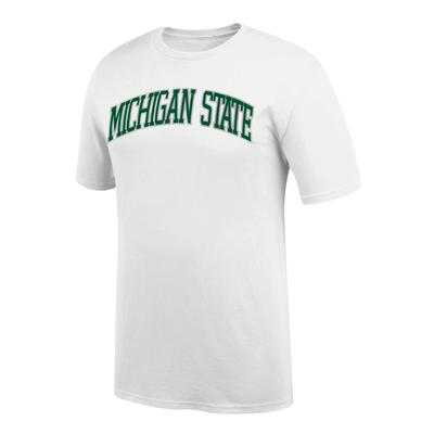 Michigan State Women's Arch Short Sleeve Tee Shirt WHITE