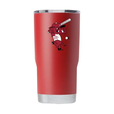 Arkansas 20 oz Ribby Logo Crimson Tumbler