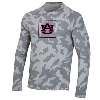 Auburn Under Armour Sideline Long Sleeve Training Tee GREY_CAMO