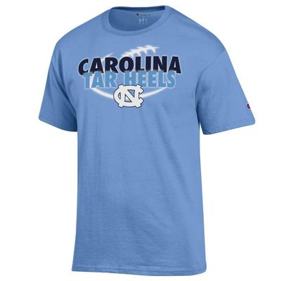 UNC Champion Men's Carolina Tar Heels Football with Ball Tee