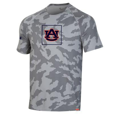 Auburn Under Armour Sideline Short Sleeve Training Tee GREY_CAMO