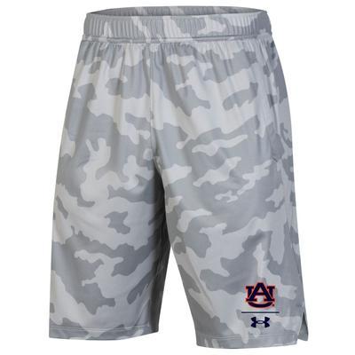 Auburn Under Armour Locker 9' Shorts GREY_CAMO