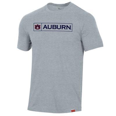 Auburn Under Armour Pinnacle Short Sleeve Tee GREY
