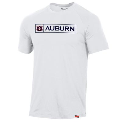 Auburn Under Armour Pinnacle Short Sleeve Tee WHITE