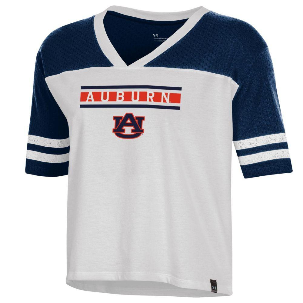 Auburn Under Armour Women's Meta Mesh Tee