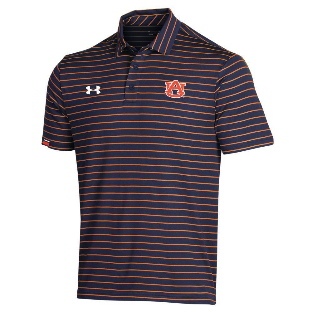 Auburn Under Armour Easy Stripe Polo