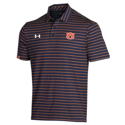 Auburn Under Armour Easy Stripe Polo