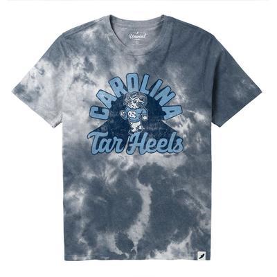 UNC League Retro Tie Dye Crew Tee Shirt