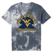 West Virginia League Retro Tie Dye Crew Tee Shirt