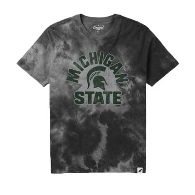 Michigan State League Retro Tie Dye Crew Tee Shirt