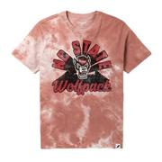 Nc State League Retro Tie Dye Crew Tee Shirt