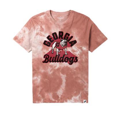 Georgia League Retro Tie Dye Crew Tee Shirt