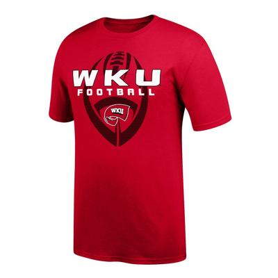 Western Kentucky Vertical Football Short Sleeve Tee